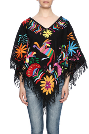 Nativa Mexican Embroidered Poncho - Side cropped