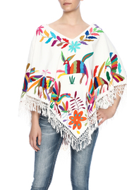 Nativa Mexican Embroidered Poncho - Front cropped