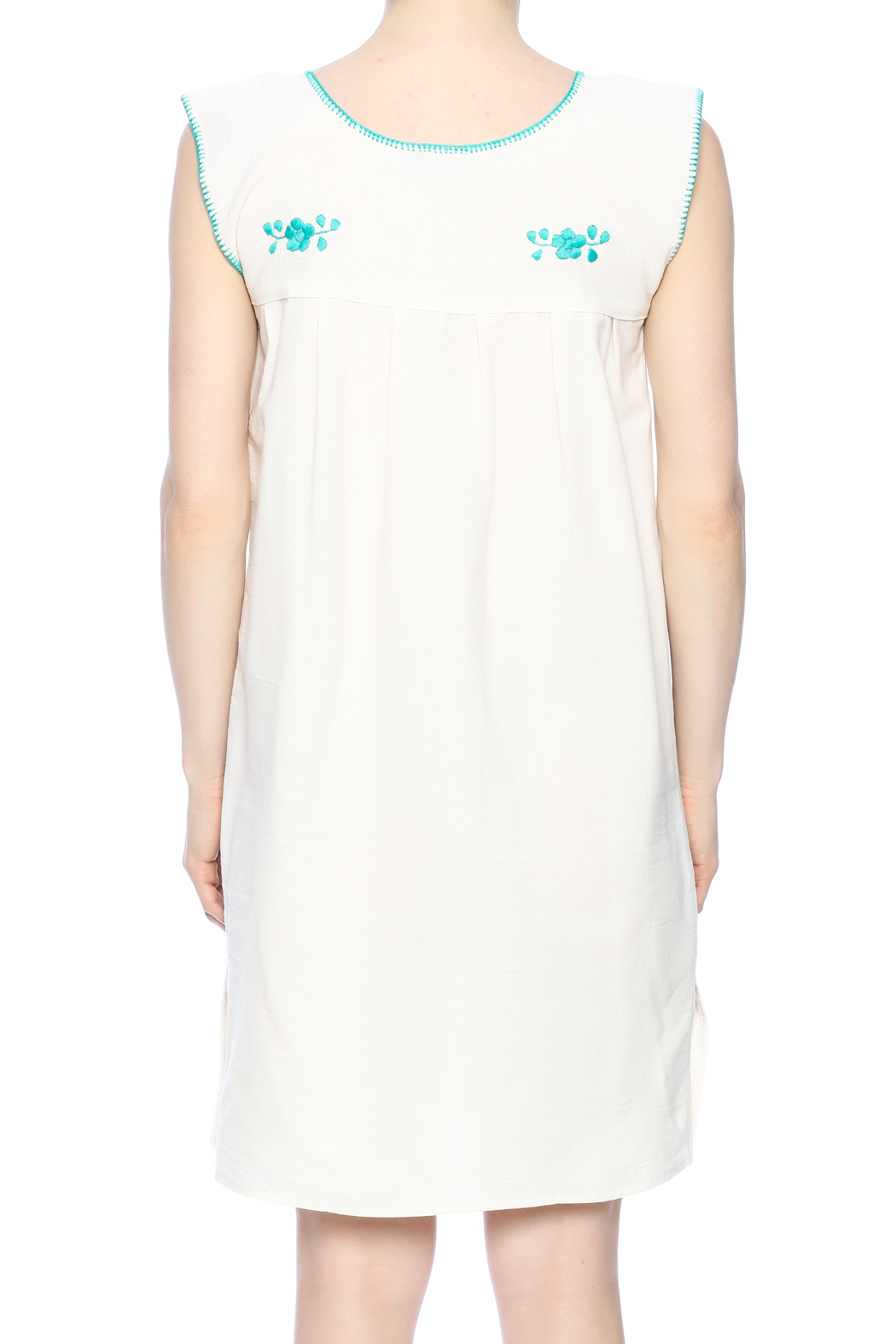 Nativa Mexican Puebla Dress - Back Cropped Image