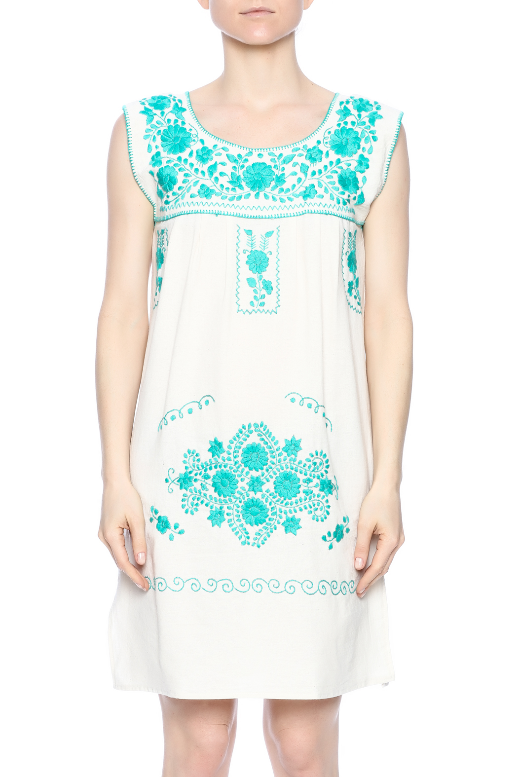 Nativa Mexican Puebla Dress - Side Cropped Image