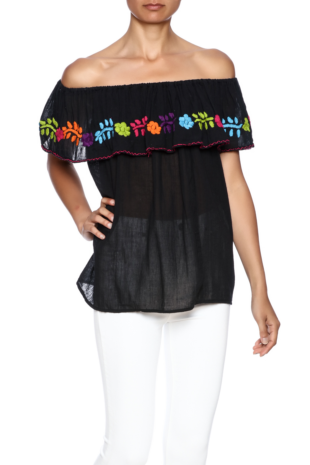 Nativa Mexican Vuelo Blouse - Front Cropped Image