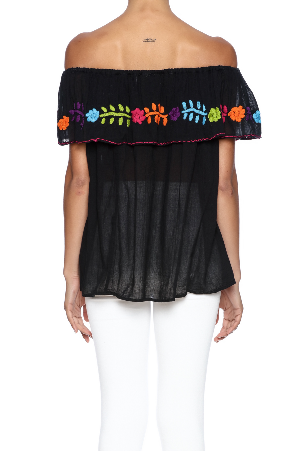 Nativa Mexican Vuelo Blouse - Back Cropped Image