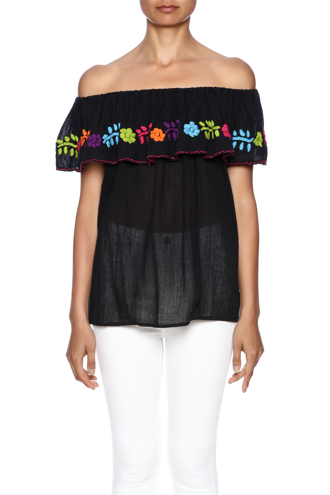 Nativa Mexican Vuelo Blouse - Side Cropped Image