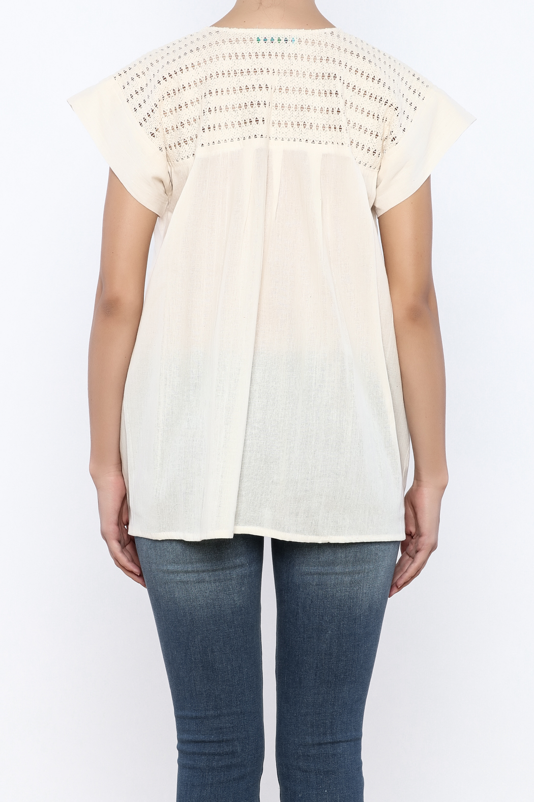 Nativa Natural Mia Blouse - Back Cropped Image
