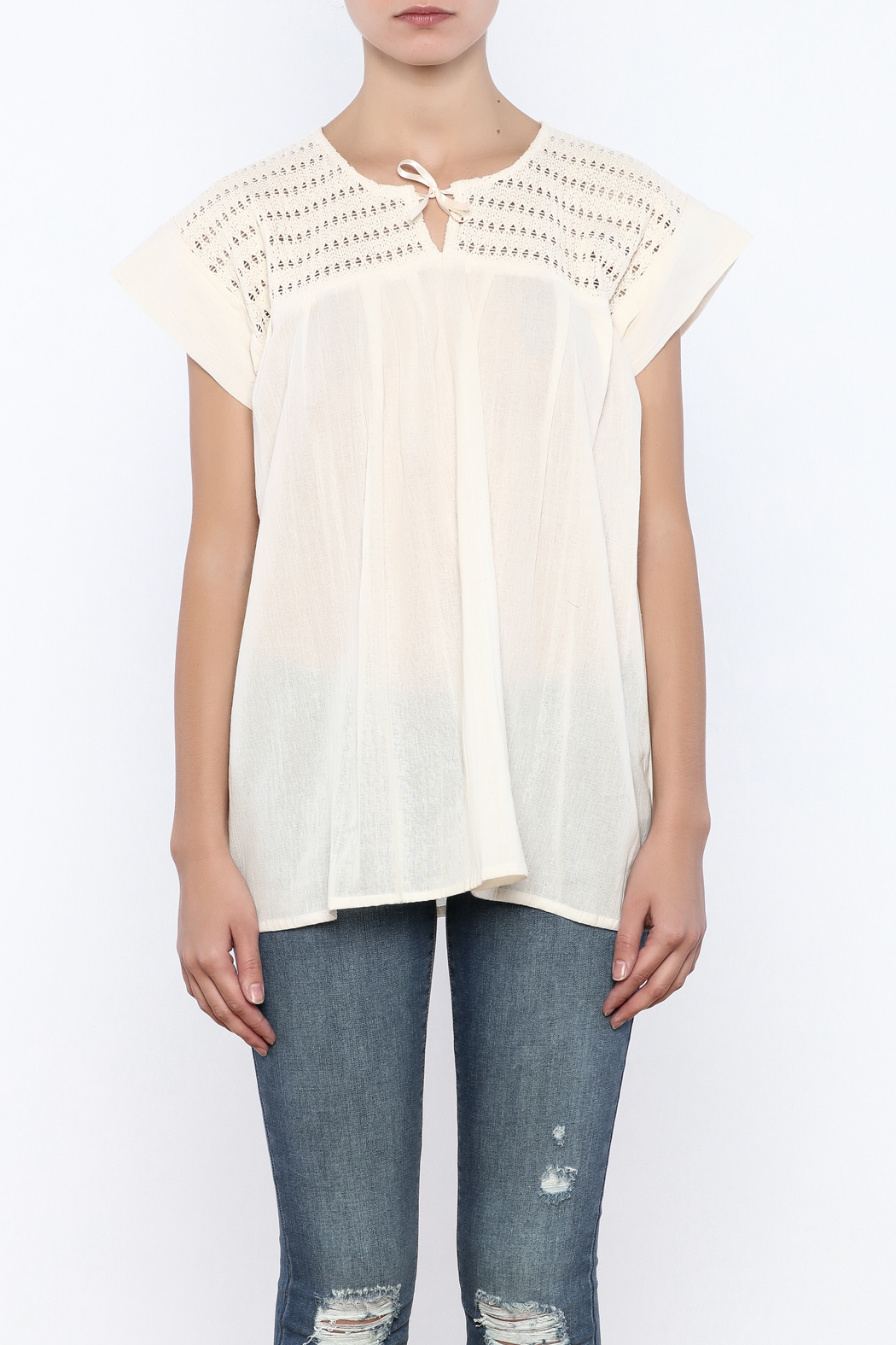 Nativa Natural Mia Blouse - Side Cropped Image