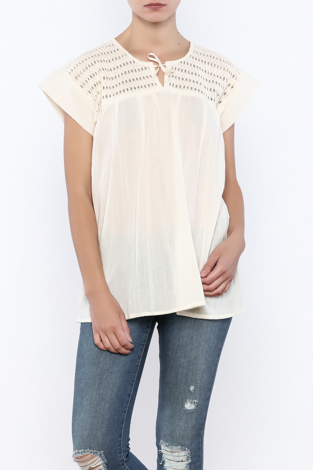 Nativa Natural Mia Blouse - Front Cropped Image