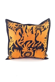 Nativa Otomi Black-Orange Pillow - Product Mini Image