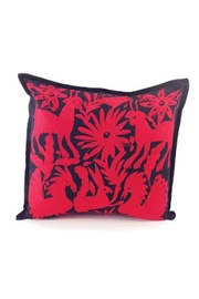 Nativa Otomi Black-Red Pillow - Product Mini Image