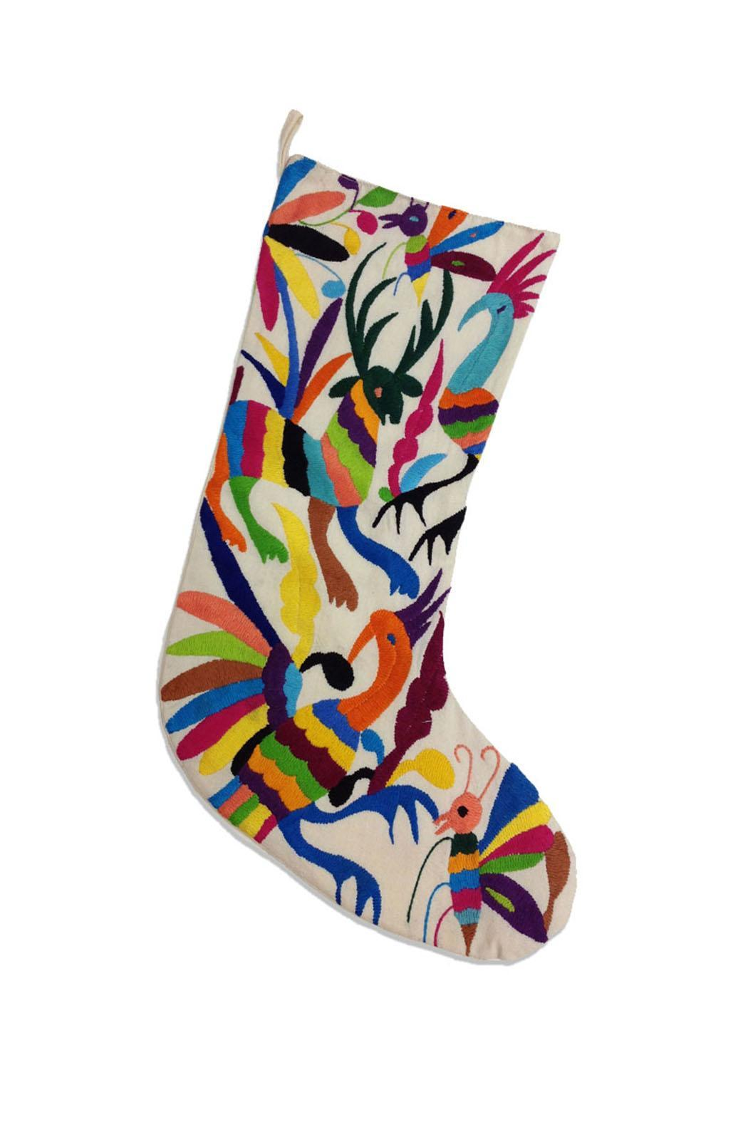 Nativa Otomi Embroidered Stockings - Front Cropped Image