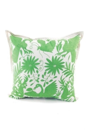 Nativa Otomi Natural-Lime Pillow - Front cropped