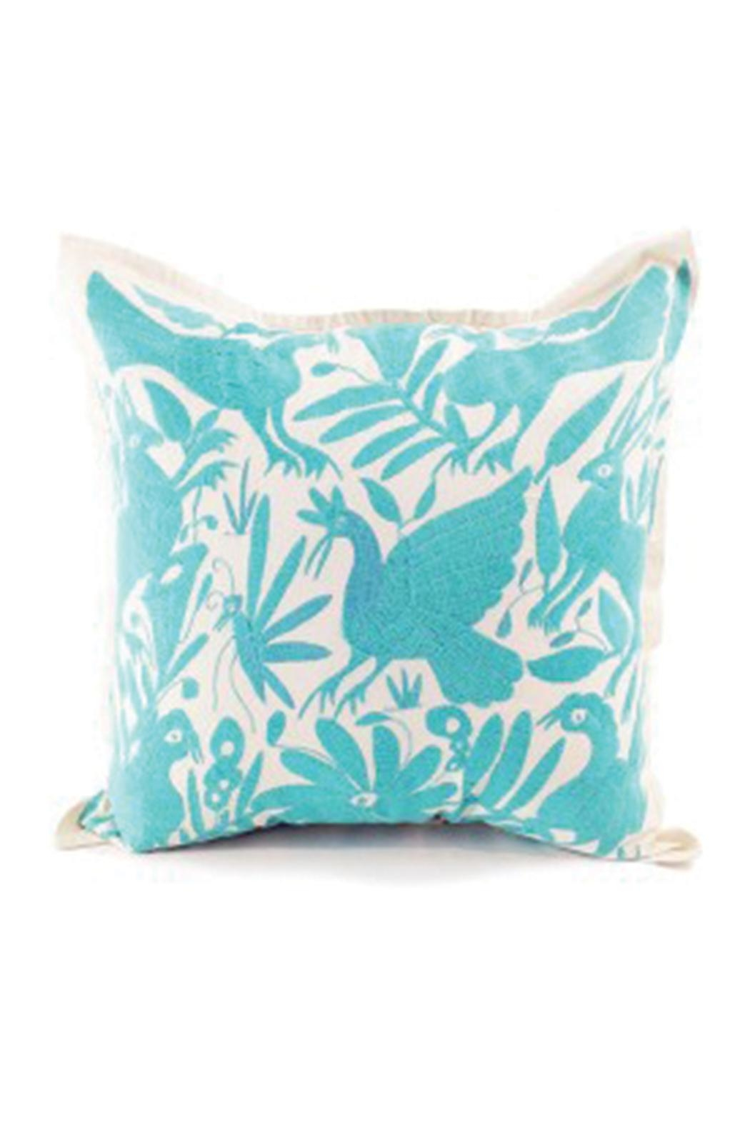 Nativa Otomi Natural-Mint Pillow - Main Image