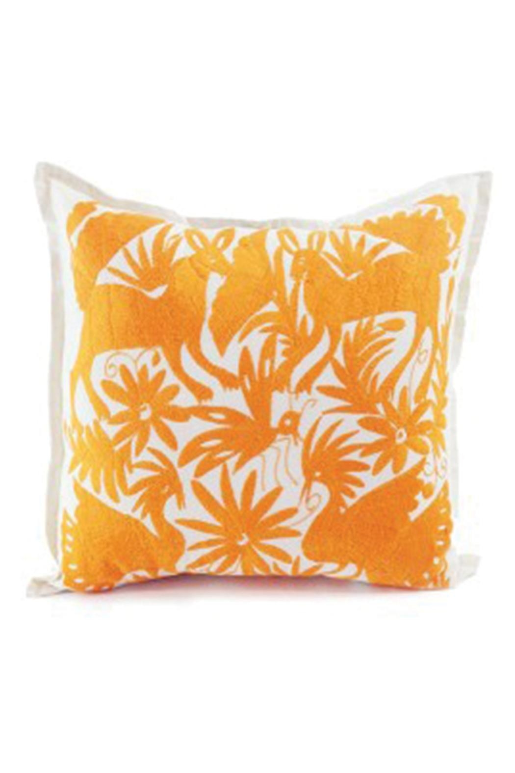 Nativa Otomi Natural-Orange Pillow - Front Cropped Image