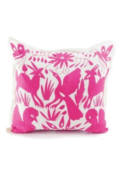 Shoptiques Product: Otomi Natural-Pink Pillow