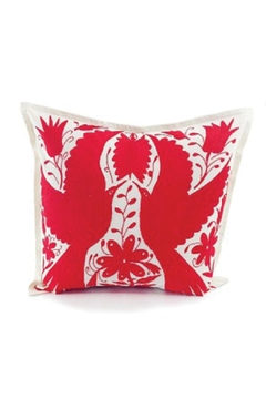 Shoptiques Product: Otomi Natural-Red Pillow