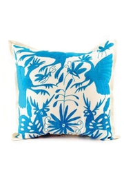 Nativa Otomi Natural-Turquoise Pillow - Front cropped
