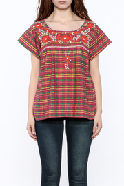 Nativa Plaid Xochitl Blouse - Side cropped