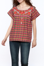 Nativa Plaid Xochitl Blouse - Product Mini Image