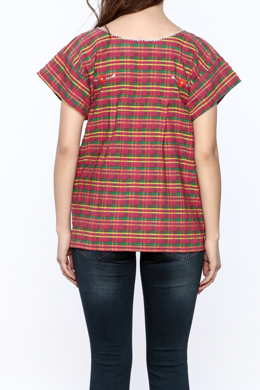 Nativa Plaid Xochitl Blouse - Back Cropped Image