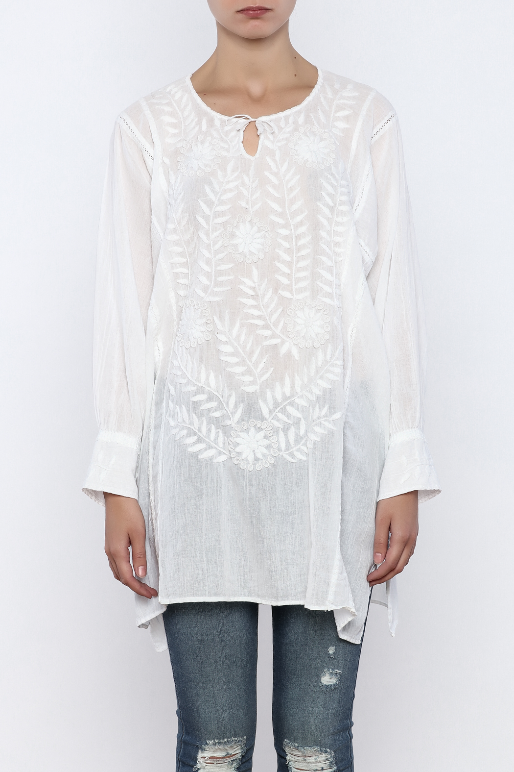 Nativa Rosa Blouse - Side Cropped Image