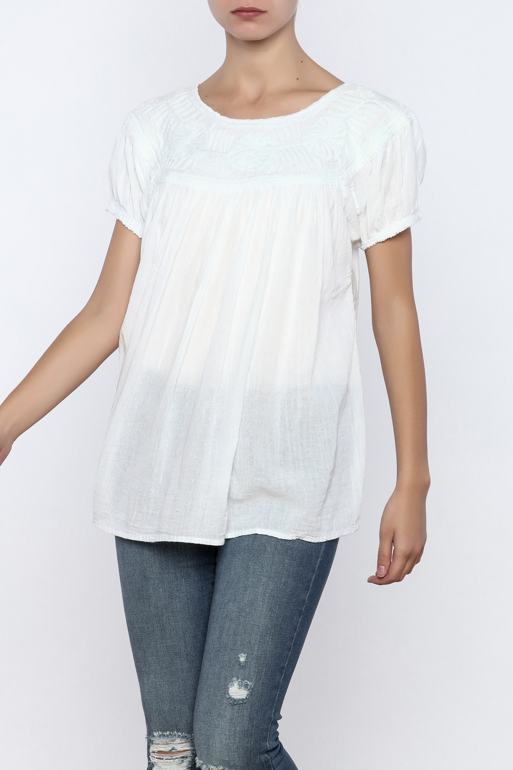 Nativa Roundneck Blouse - Front Cropped Image