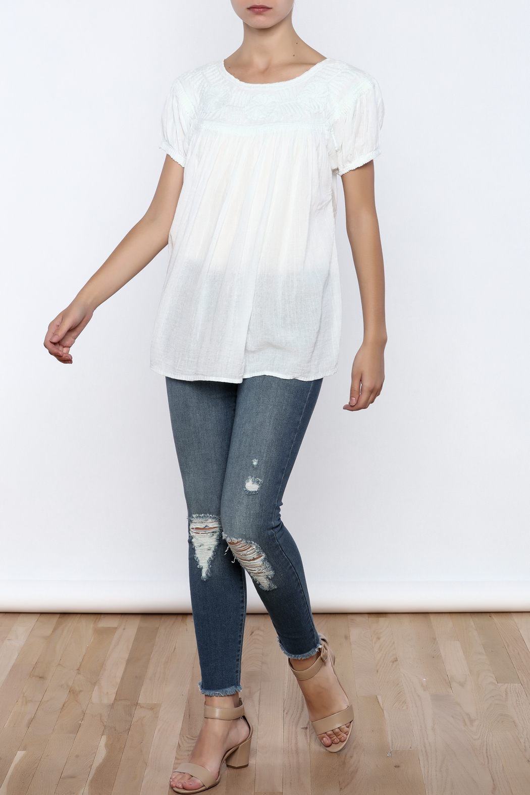 Nativa Roundneck Blouse - Front Full Image