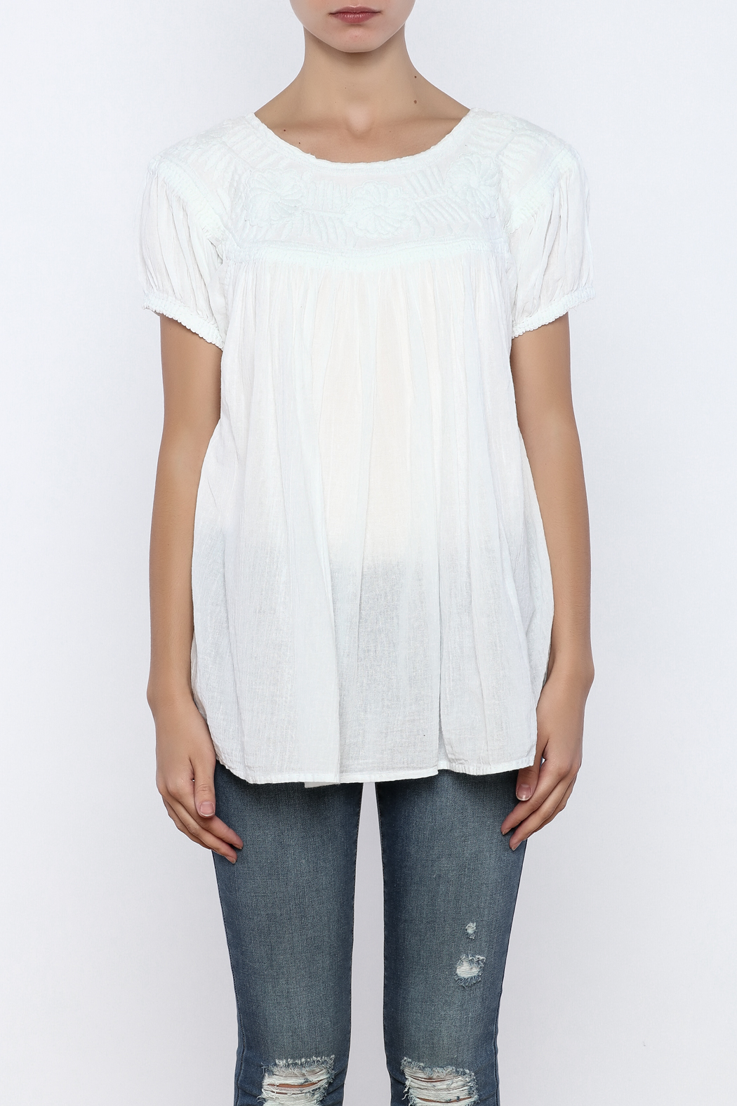 Nativa Roundneck Blouse - Side Cropped Image