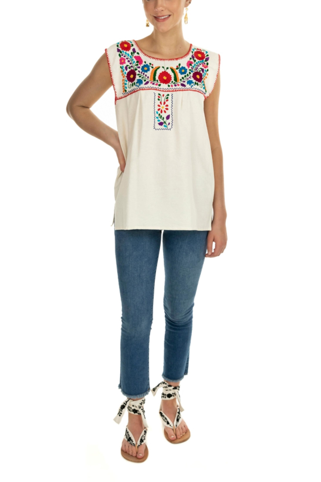 Nativa Xochitl Women's Blouse - Front Cropped Image