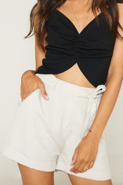 SAGE THE LABEL Native Fox Tie Front Shorts - Product List Image