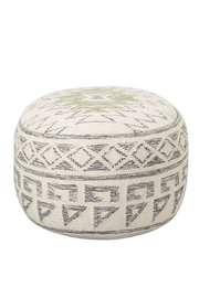 Creative Co-Op Native Pathway Pouf - Product Mini Image