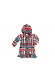 Mimi & Maggie Native Stripe Zip Front Hoodie - Front cropped