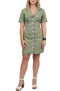 Native Youth Revere Collar Dress - Product List Image