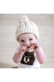 Huggalugs Natural Cable Beanie - Product Mini Image