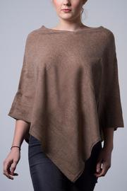 Nine Yaks Natural Cashmere Poncho - Front cropped