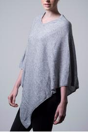 Nine Yaks Natural Cashmere Poncho - Front full body