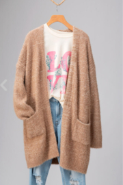 Trend:notes Natural Cozy Cardigan - Product Mini Image