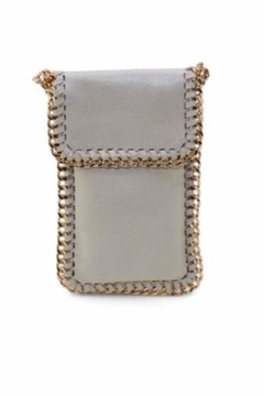 Shoptiques Product: Natural Flap Chain Phone Case