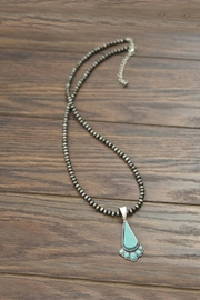 JChronicles Natural-Flat-Top Turquoise Necklace - Product Mini Image