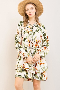 Compendium Natural Floral Shirtdress - Product List Image