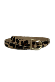 Leatherock Natural Hair Leopard Skinny Belt - Product Mini Image