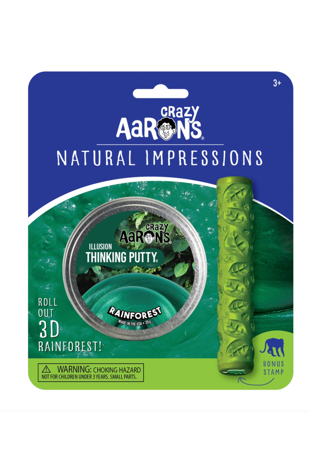 Crazy Aaron's  Natural Impressions Illusion Putty: Rainforest - Side Cropped Image