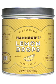 Hammond's Candies NATURAL LEMON DROPS TIN - Front cropped