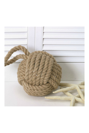 DEI Natural Monkey's Fist Door Stopper - Front cropped