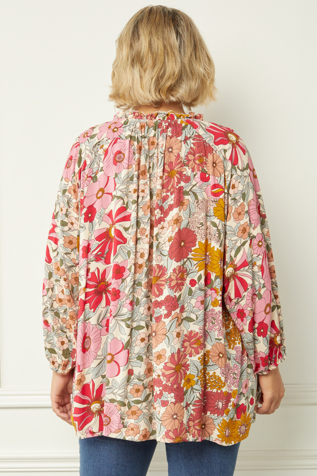 entro  Natural Multi Blouse - Front Full Image