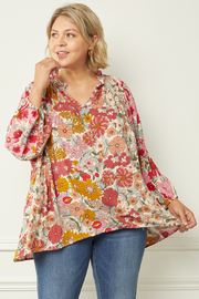 entro  Natural Multi Blouse - Front cropped