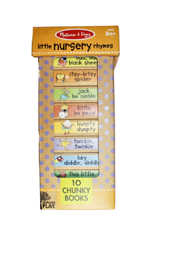 Melissa and Doug Natural Play Book Tower: Little Nursery Rhymes - Alternate List Image