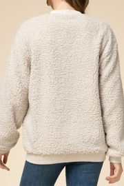 Entro  Natural Sherpa Cardigan - Front full body