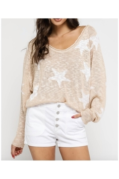 Olivaceous Natural Star Sweater - Alternate List Image