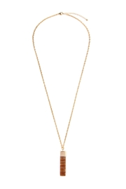 Riah Fashion Natural-Stone Lariat Necklace - Product Mini Image