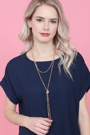 Riah Fashion Natural-Stone-Layered Beads-Necklace - Other