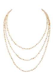 Riah Fashion Natural-Stone-Layered Beads-Necklace - Front full body
